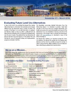 Union City General Plan Update Newsletter #3: Evaluating Future Land Use Alternatives